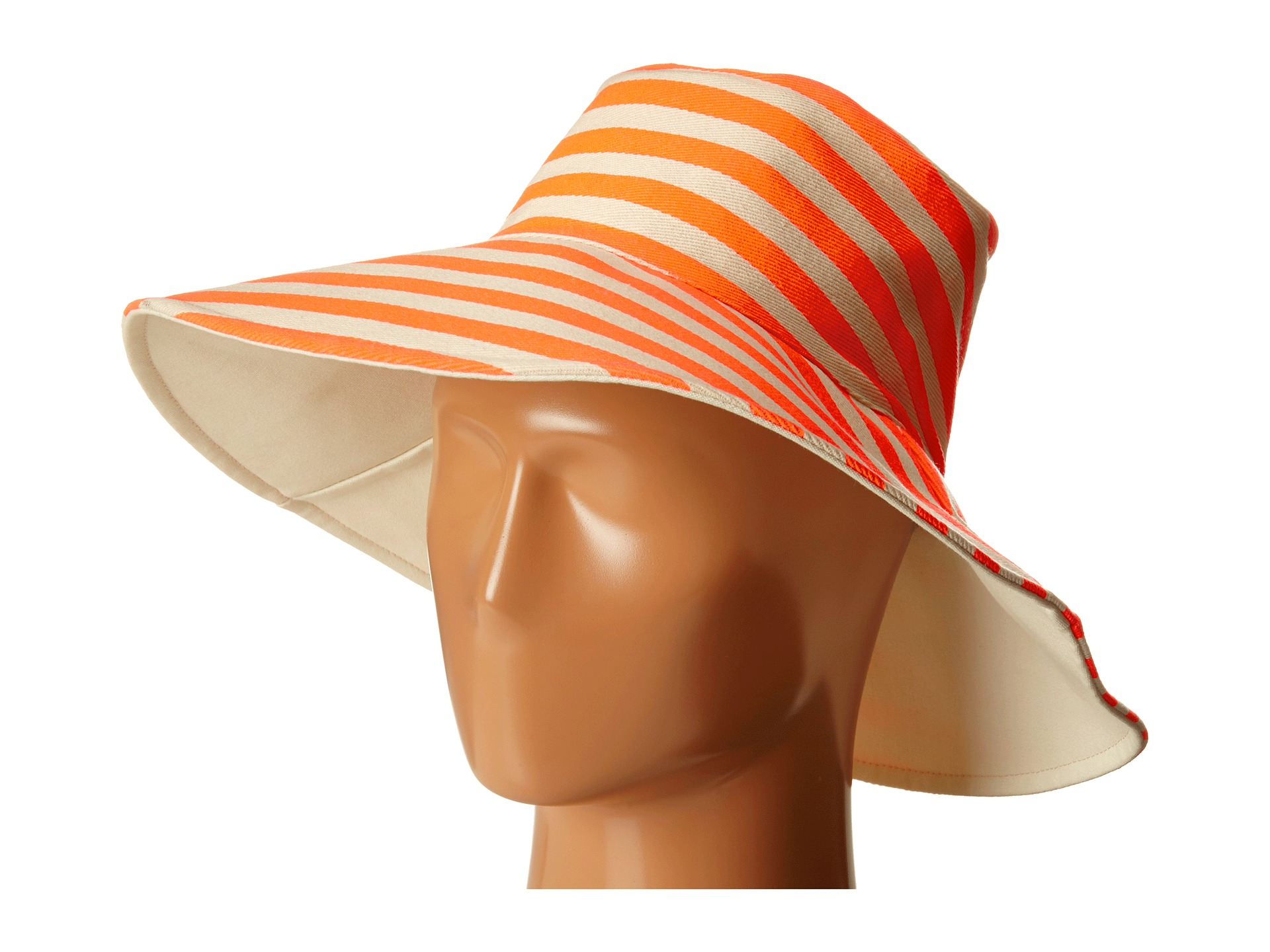 3b0b681bb8e Lyst - Hat Attack Canvas Reversible Sunhat in Orange