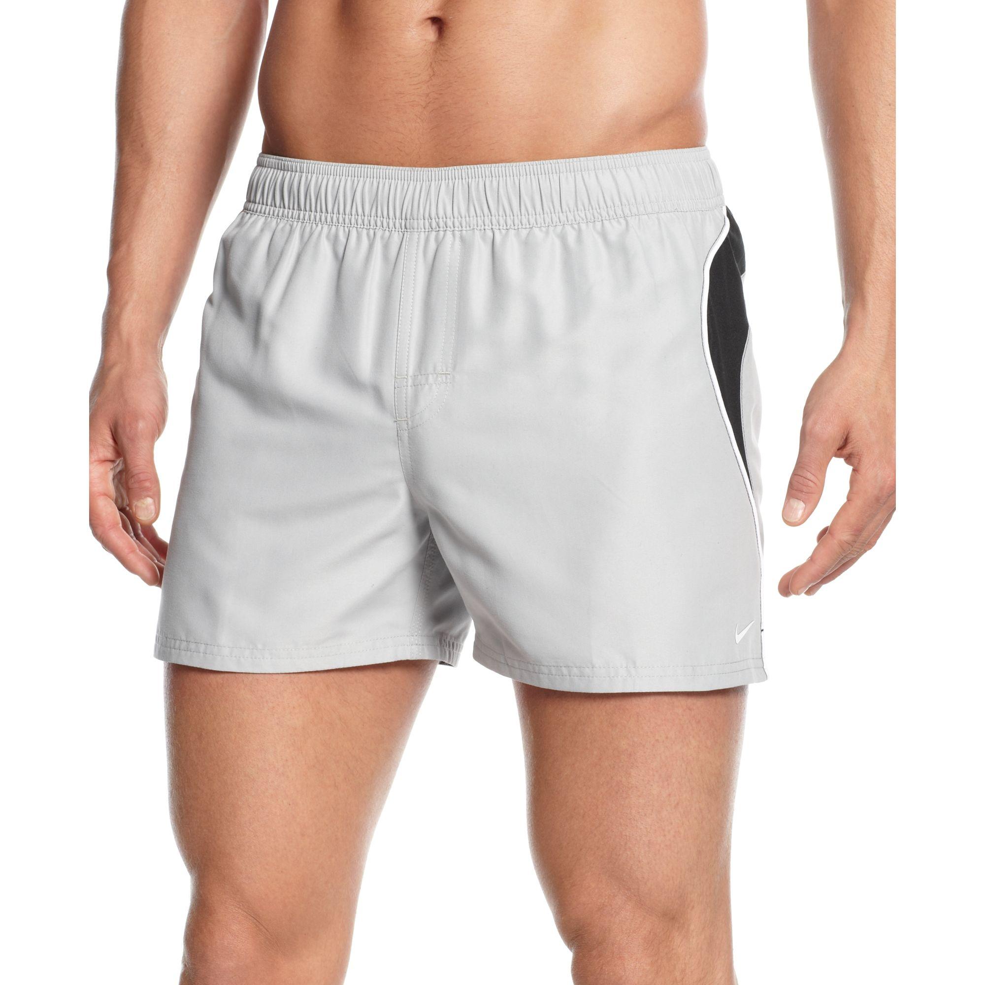 f926037a35 Nike Racer Splice 4 Volley Swim Shorts in Gray for Men - Lyst