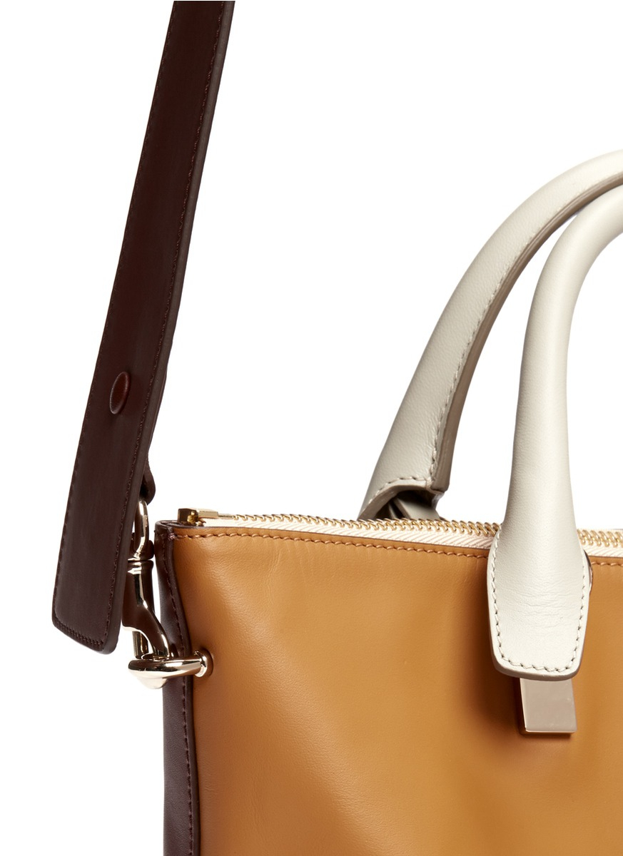 Chlo¨¦ Baylee Small Leather Shoulder Bag in Brown (Neutral and ...