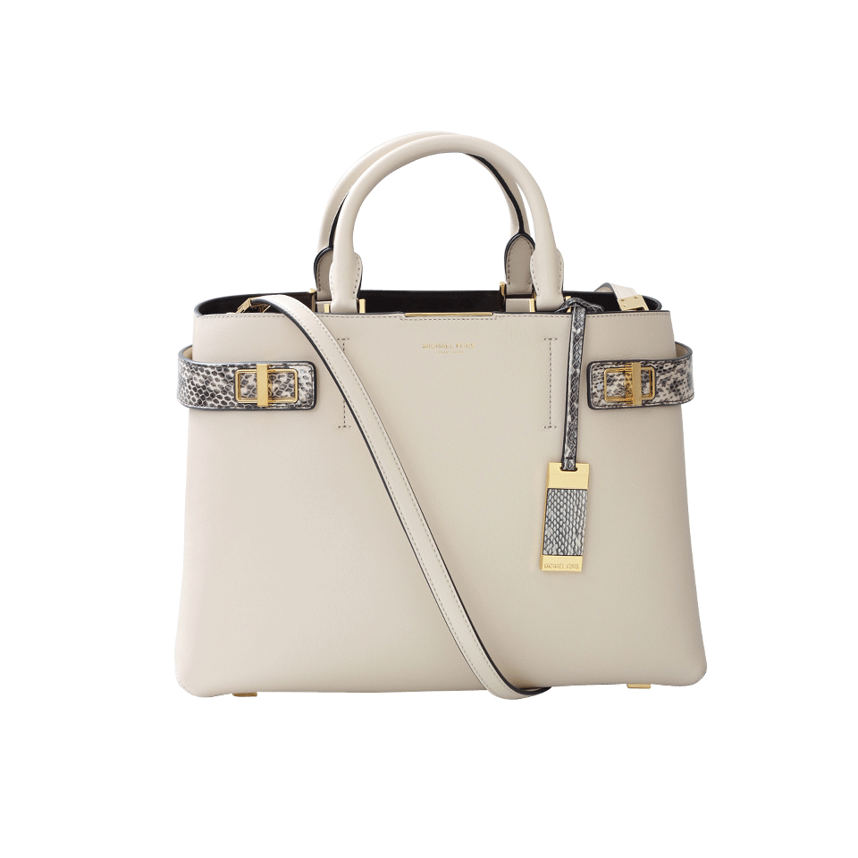 Michael Kors Laukut Pori : Michael kors bette large satchel in white lyst