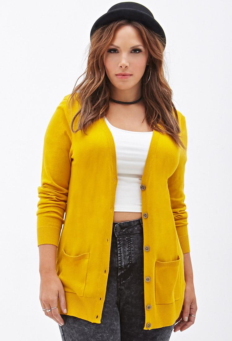 Unflattering size women yellow bright for cardigan clothing plus asos zebra