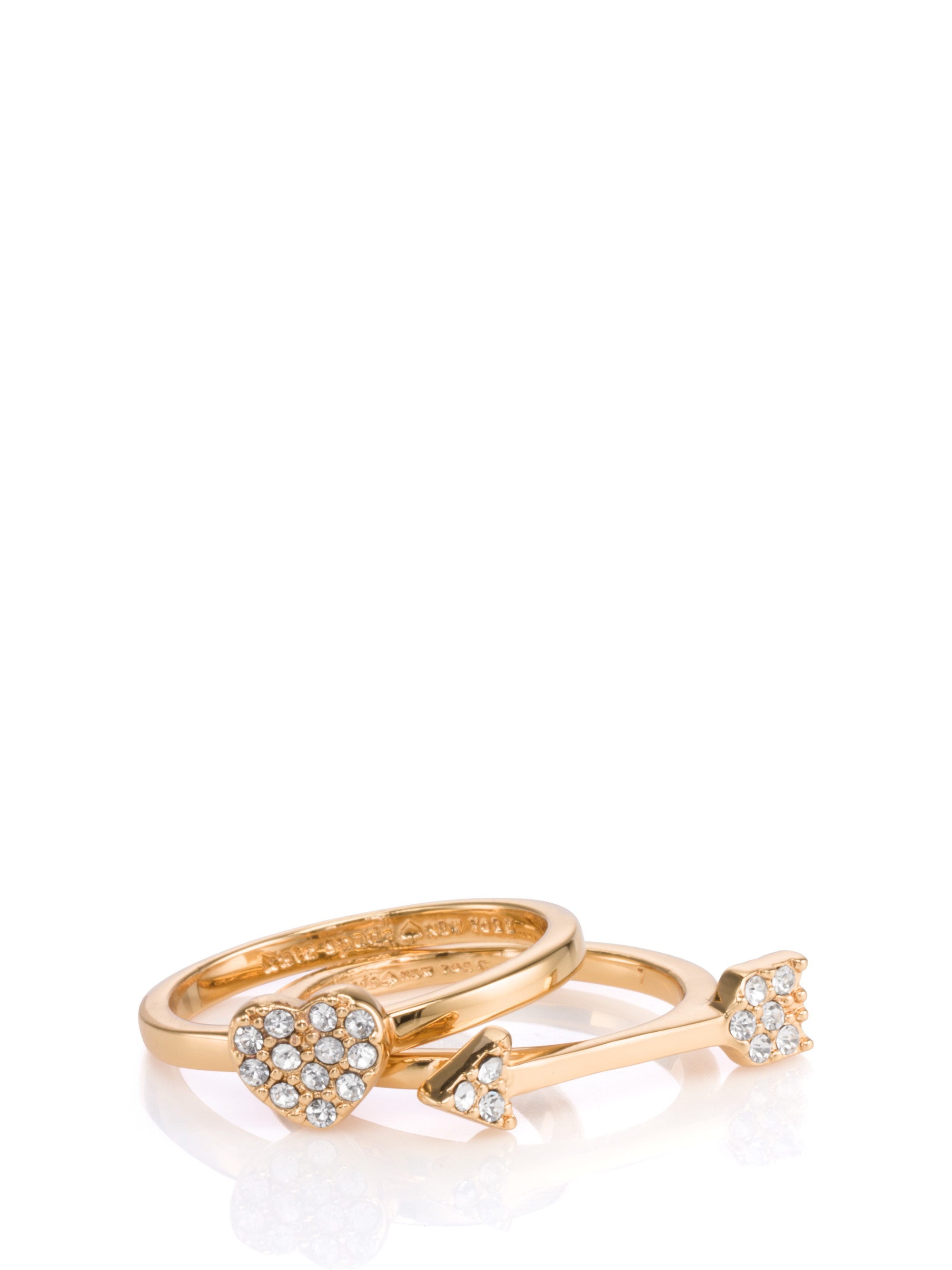 Kate spade new york love list heart and arrow stackable for Jewelry storm arrow ring