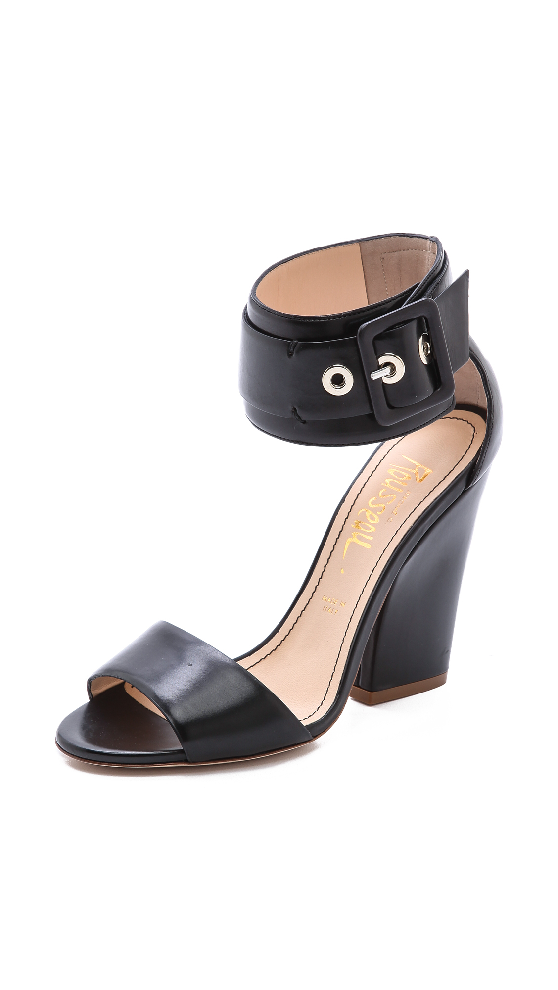 cheap new arrival Jerome C. Rousseau Leather Wedge Sandals clearance store for sale cheap new styles PQDljmGQl
