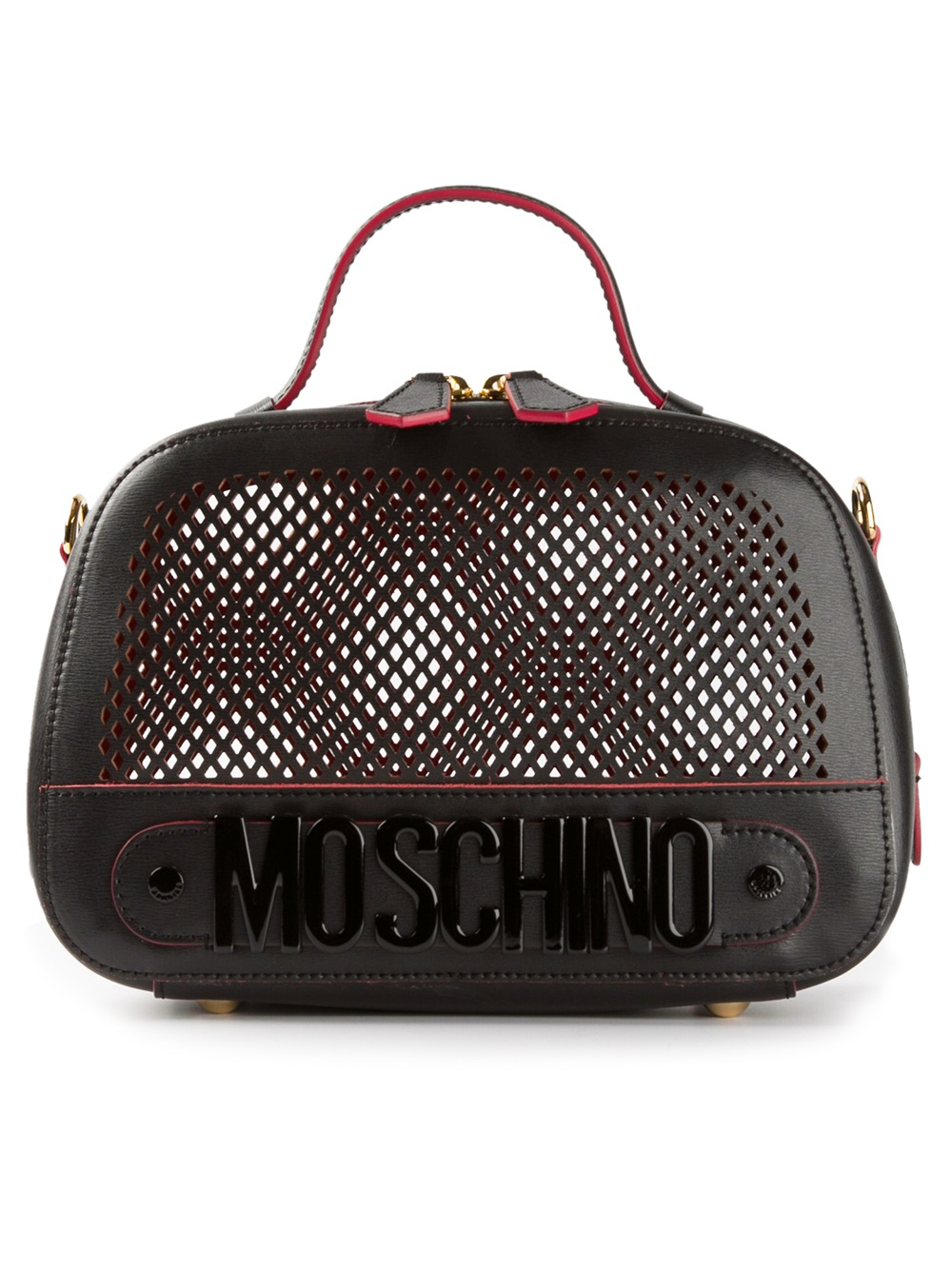 moschino small mesh bowling bag in black lyst. Black Bedroom Furniture Sets. Home Design Ideas