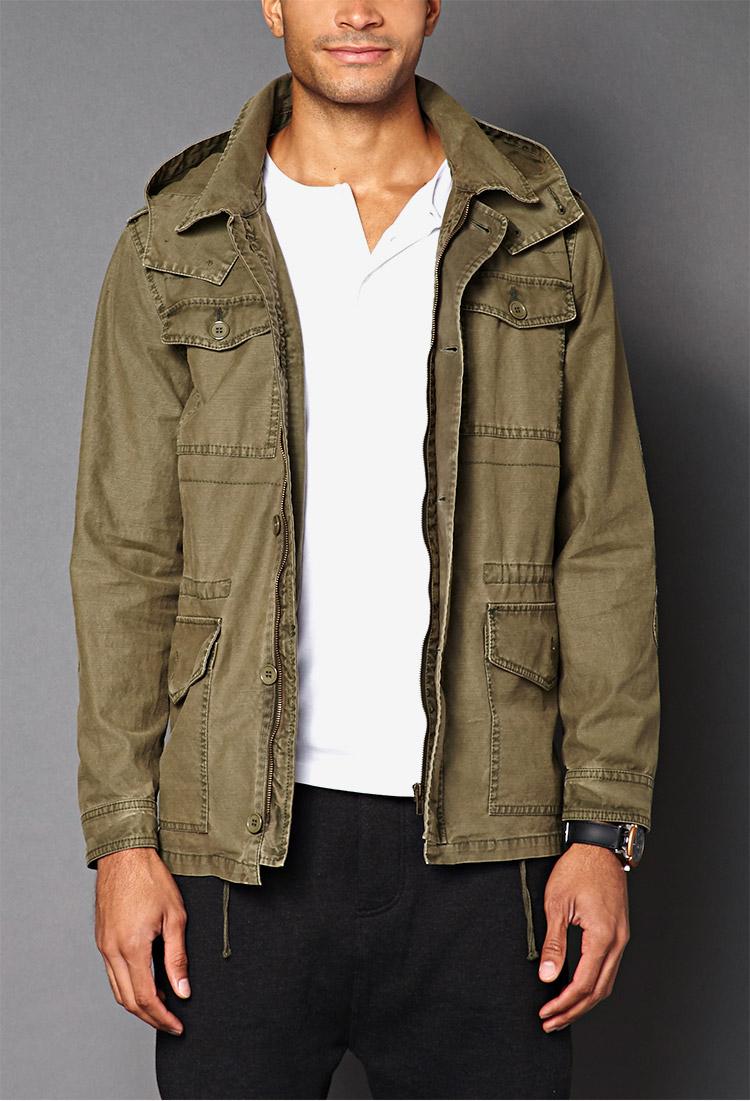 Utility Jacket Jackets And Nike: Forever 21 Detachable Hood Utility Jacket In