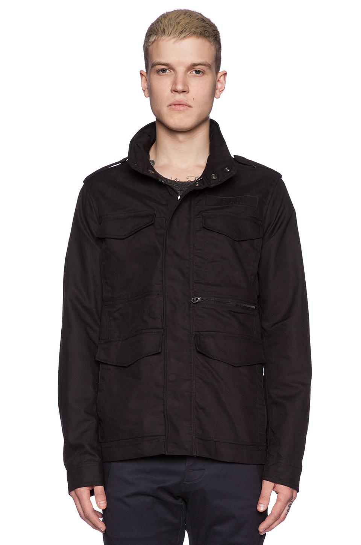 g star raw field jacket in black for men lyst. Black Bedroom Furniture Sets. Home Design Ideas