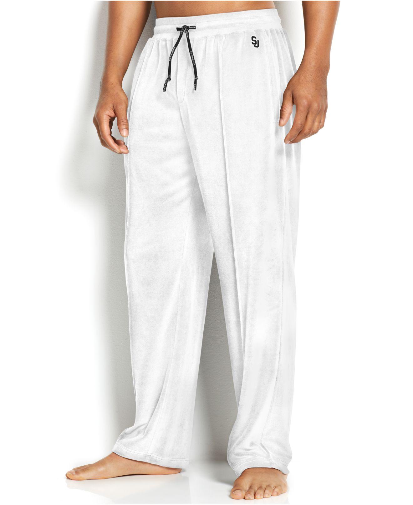 White Velour Pants | Gpant