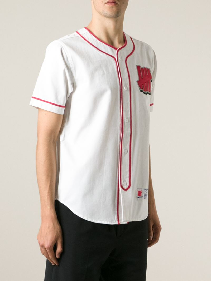 undefeated head hunter baseball style shirt in red for men lyst gallery