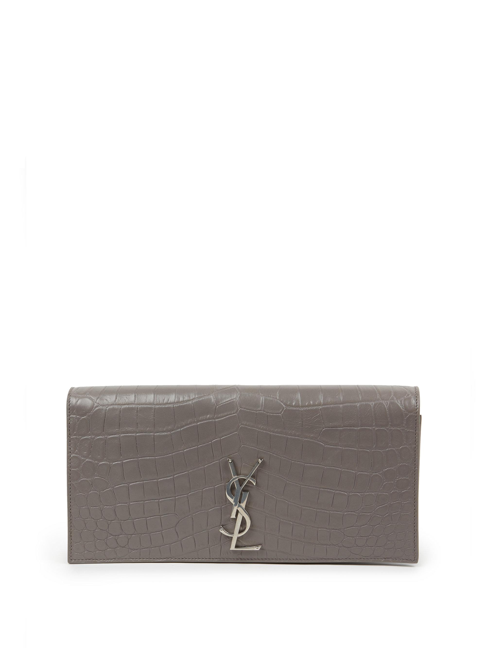 yves saint laurent luggage bags - yves saint laurent women monogram python embossed leather clutch ...