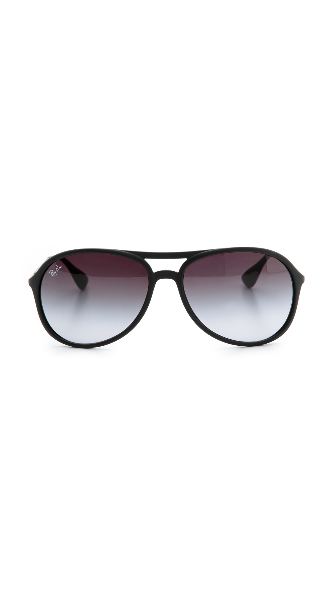 b616856388 Ray-Ban Youngster Rubber Aviator Sunglasses in Black - Lyst