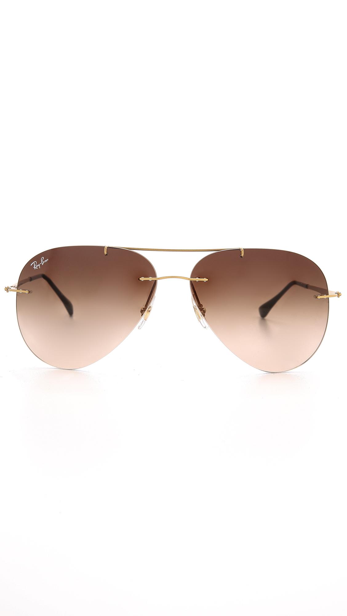 ff238184cf ... denmark lyst ray ban light tech aviator sunglasses in metallic for men  124cc 48c61
