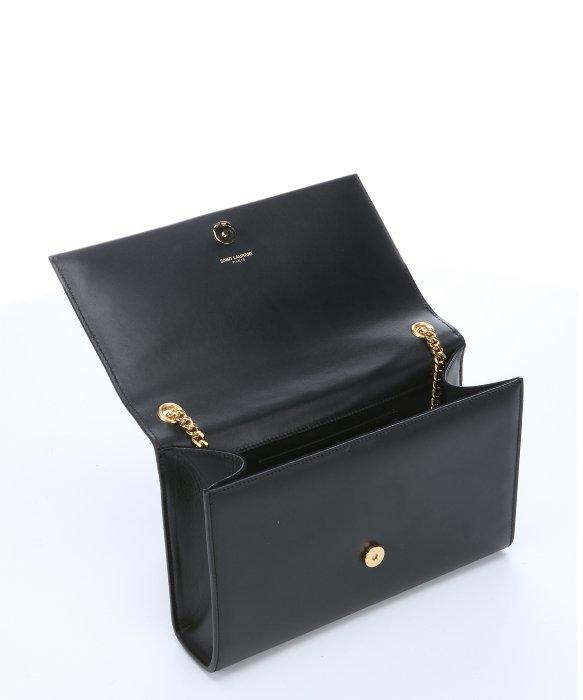 Lyst - Saint Laurent Pre-Owned  Black Leather  Classic Monogram ... 152662307797f