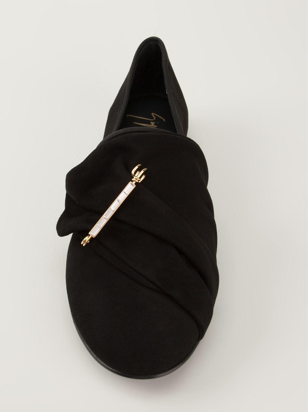 Lyst - Giuseppe Zanotti Ruched Slippers in Black for Men 0769ed25e191