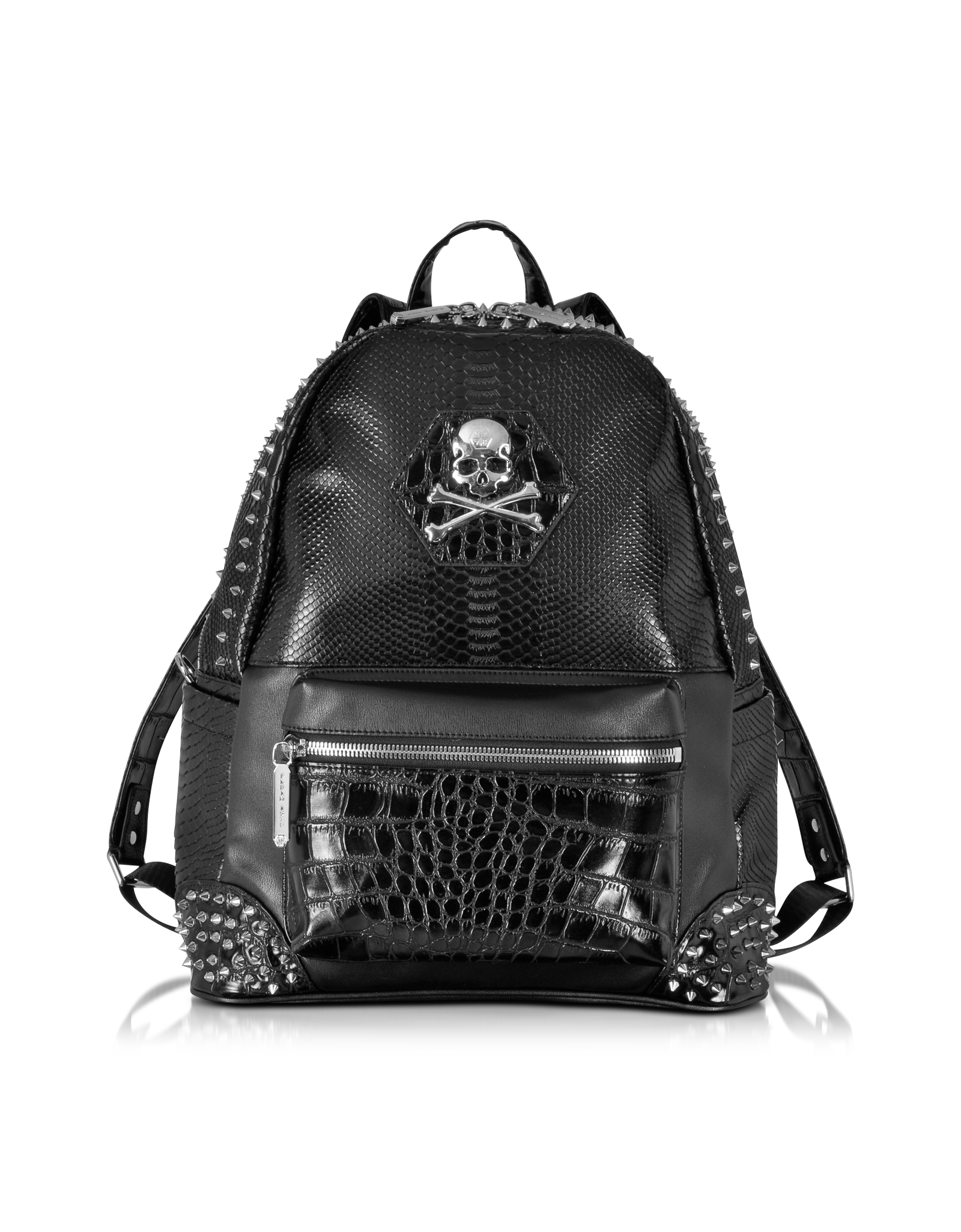 Philipp Plein Small Serious Black Studded Men's Backpack ...