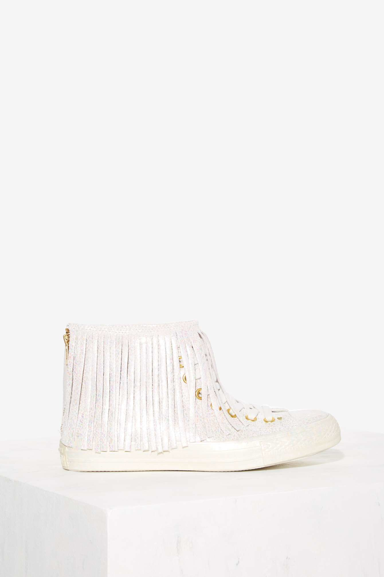 489c2d68d8e5 Lyst - Converse All Star Fringe High-top Leather Sneaker ...