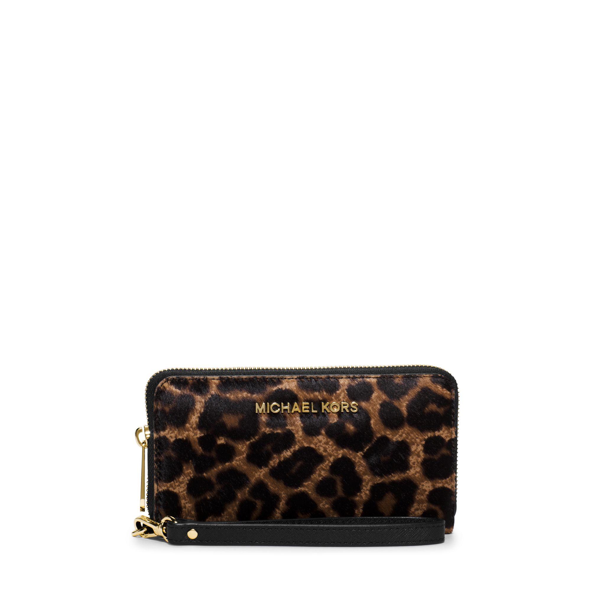 0ffaada39f57 ... Handbag Shoulder Strap Evening Designer Michael kors Jet Set Travel  Large Leopard Calf Hair Smartpho ...
