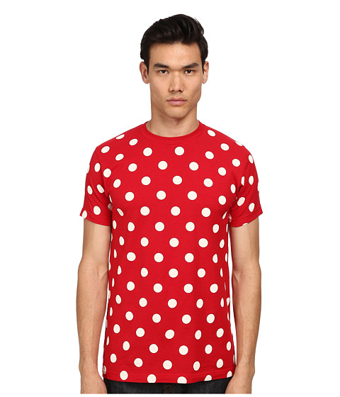 Mark mcnairy new amsterdam Polka Dot T-shirt in Red for Men | Lyst