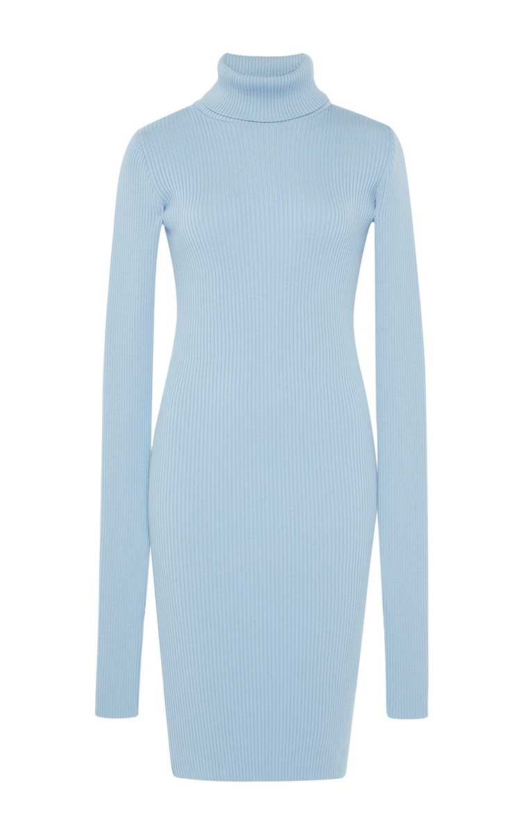 Jacquemus Split Sleeve Turtleneck Sweater Dress in Blue | Lyst
