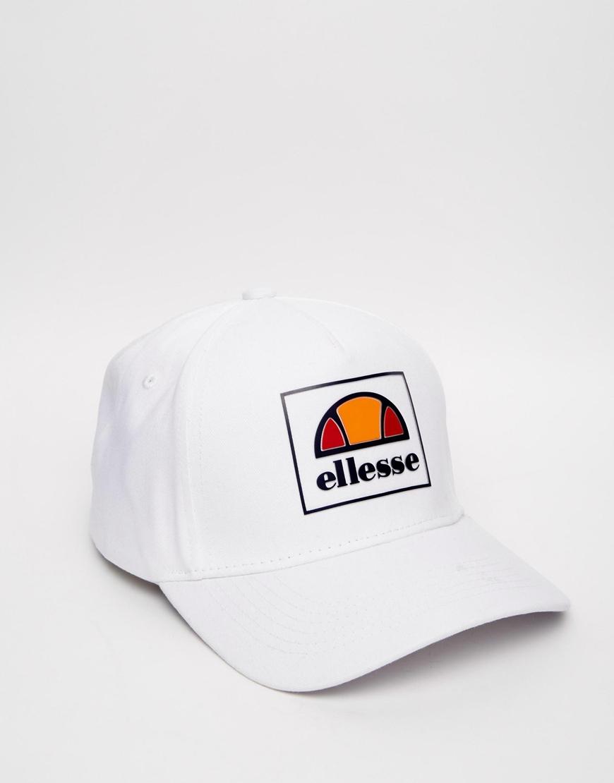 10760381dbc Lyst - Ellesse Box Logo Baseball Cap Exclusive To Asos in White for Men