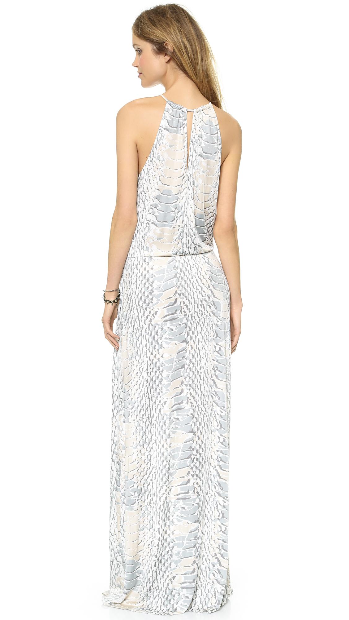 67f634c2ad23 Parker Madera Maxi Dress - Python in Gray - Lyst
