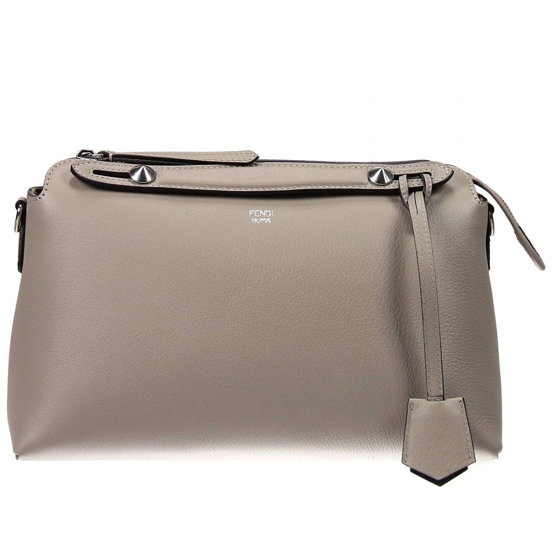 ... italy lyst fendi handbag by the way bauletto leather in gray ceab7  18bac ... a714f364abc1b