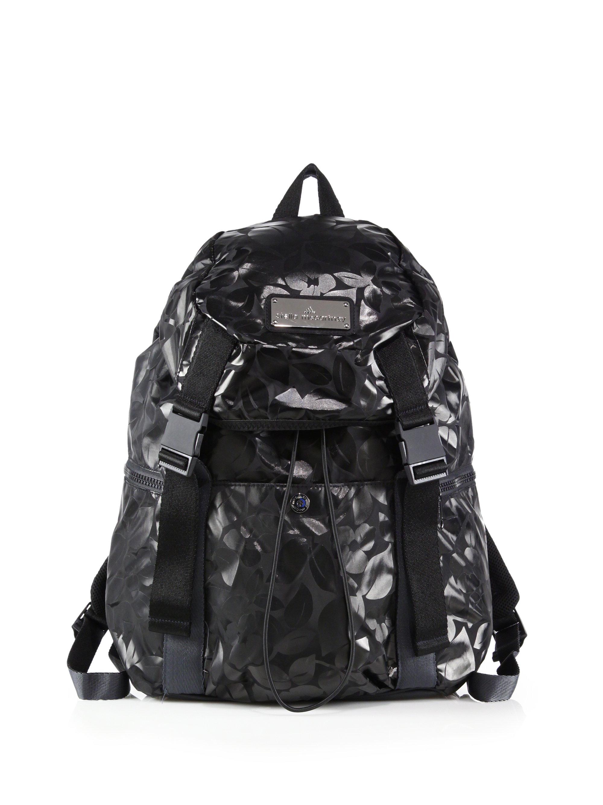 a9066970494a Lyst - adidas By Stella McCartney Printed Weekender Backpack in Black