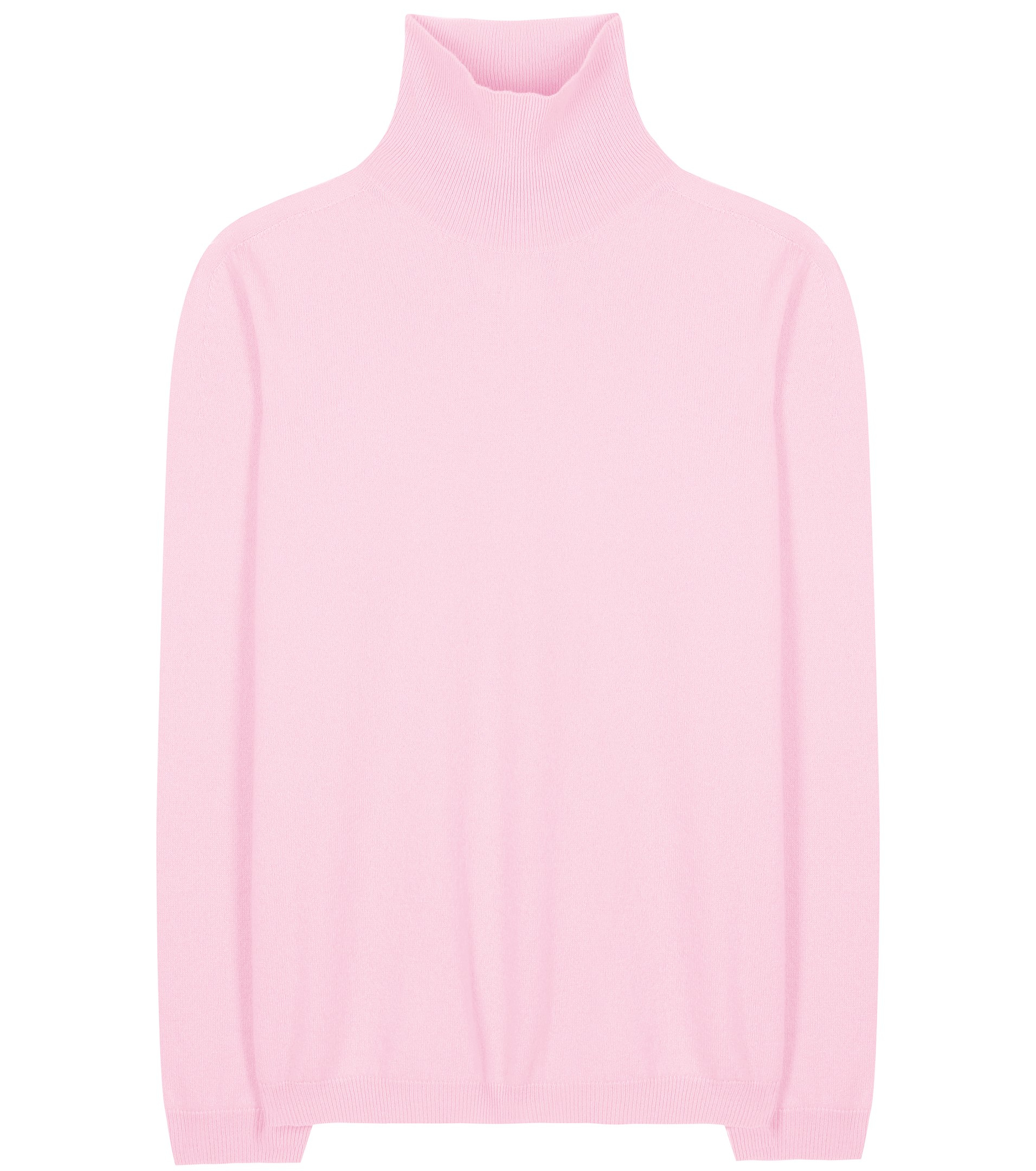 Jil sander Cashmere Turtleneck Sweater in Pink | Lyst