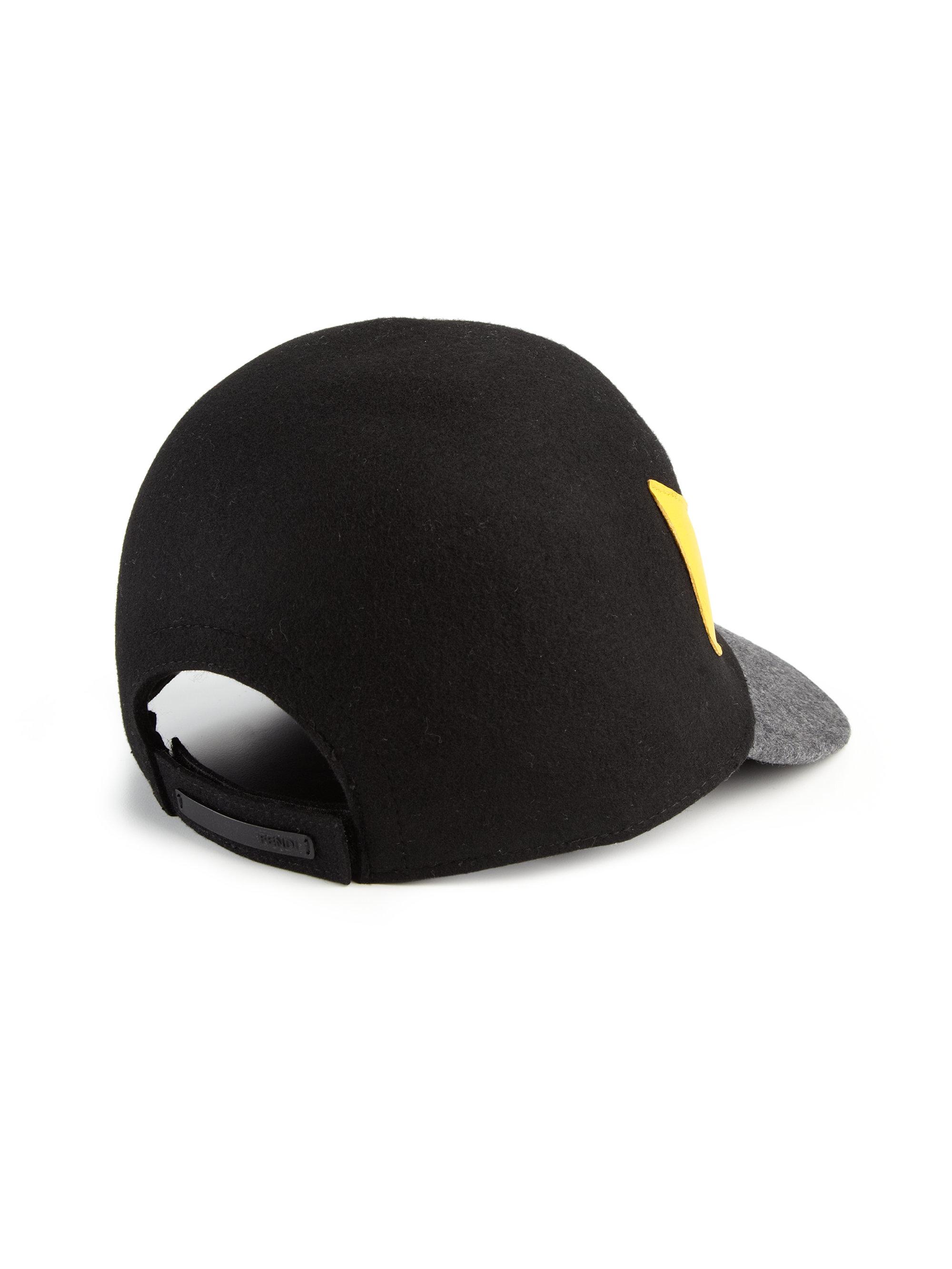 Fendi Monster Wool Baseball Cap In Black For Men Lyst