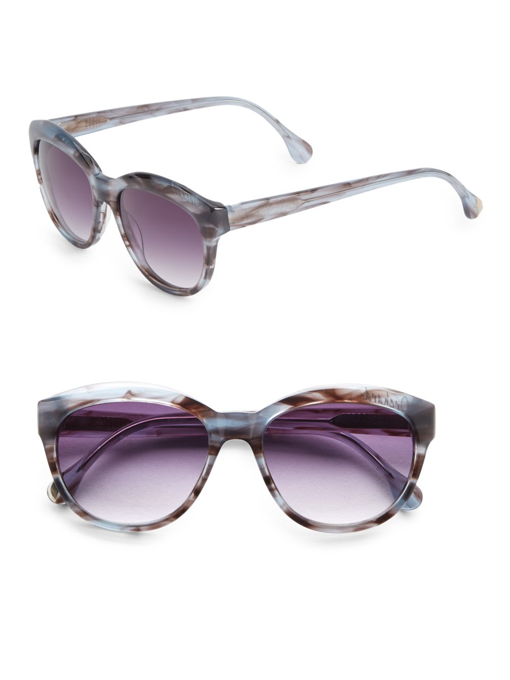 b7596f569045a Lyst - Elizabeth and James Orchard 55mm Cat s Eye Sunglasses in Blue