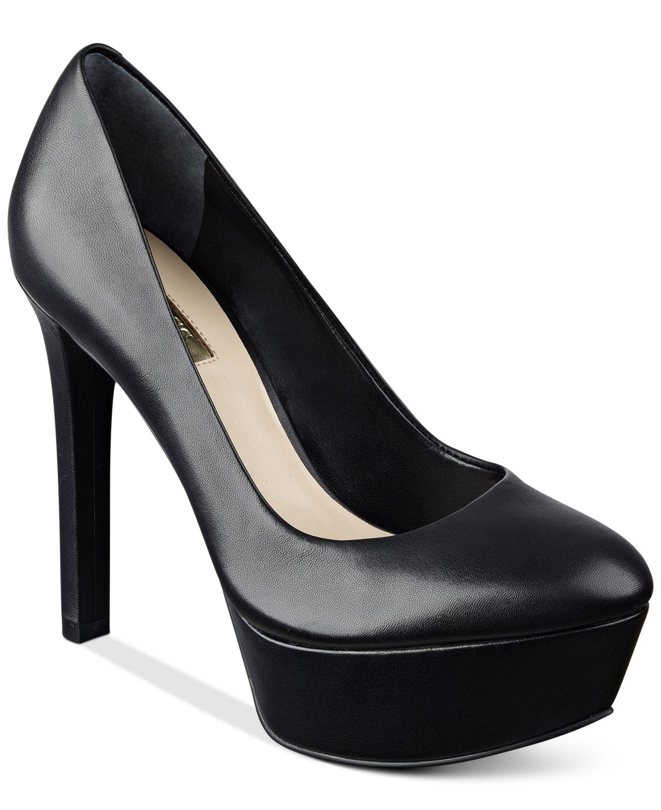 Womens Shoes GUESS Ette Black Leather