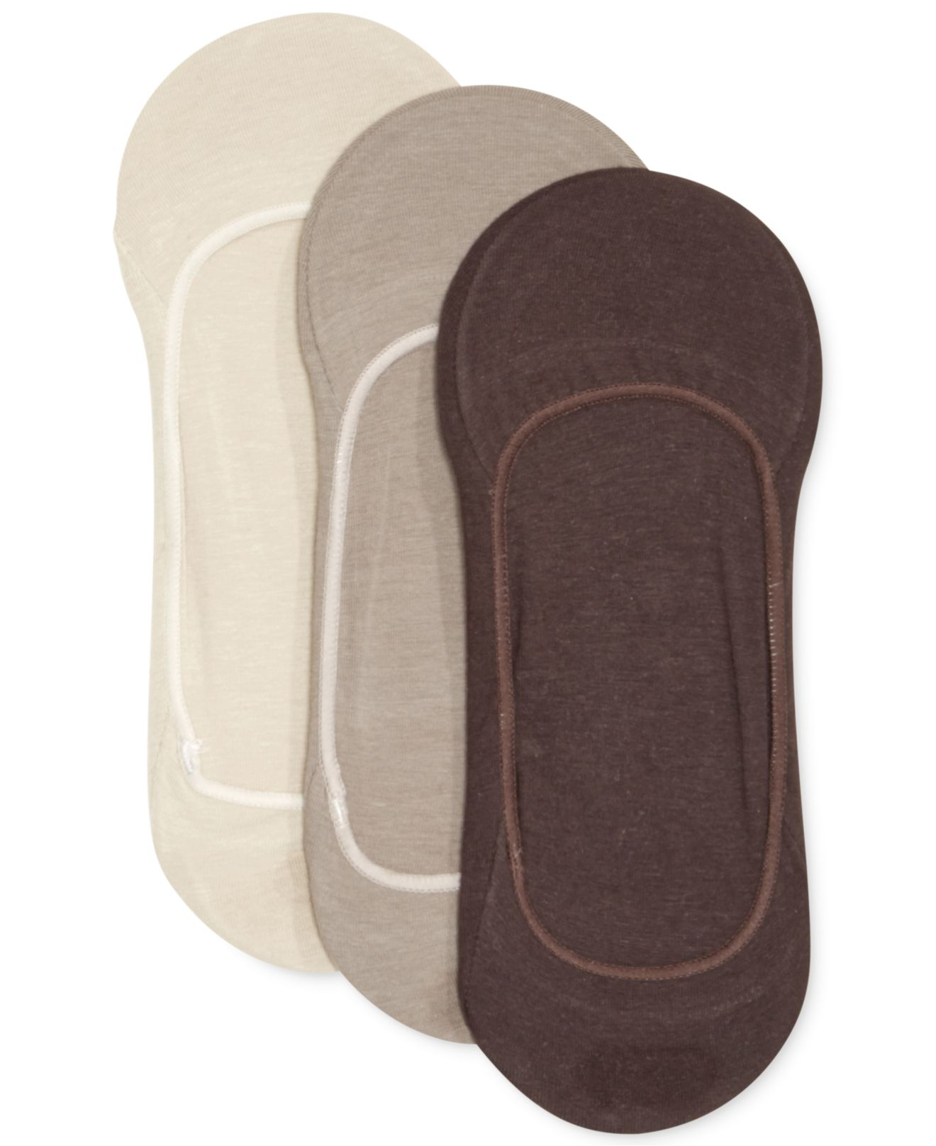 Calvin Klein Menu0026#39;s Cotton No-show Liner Socks 3-pack In ...