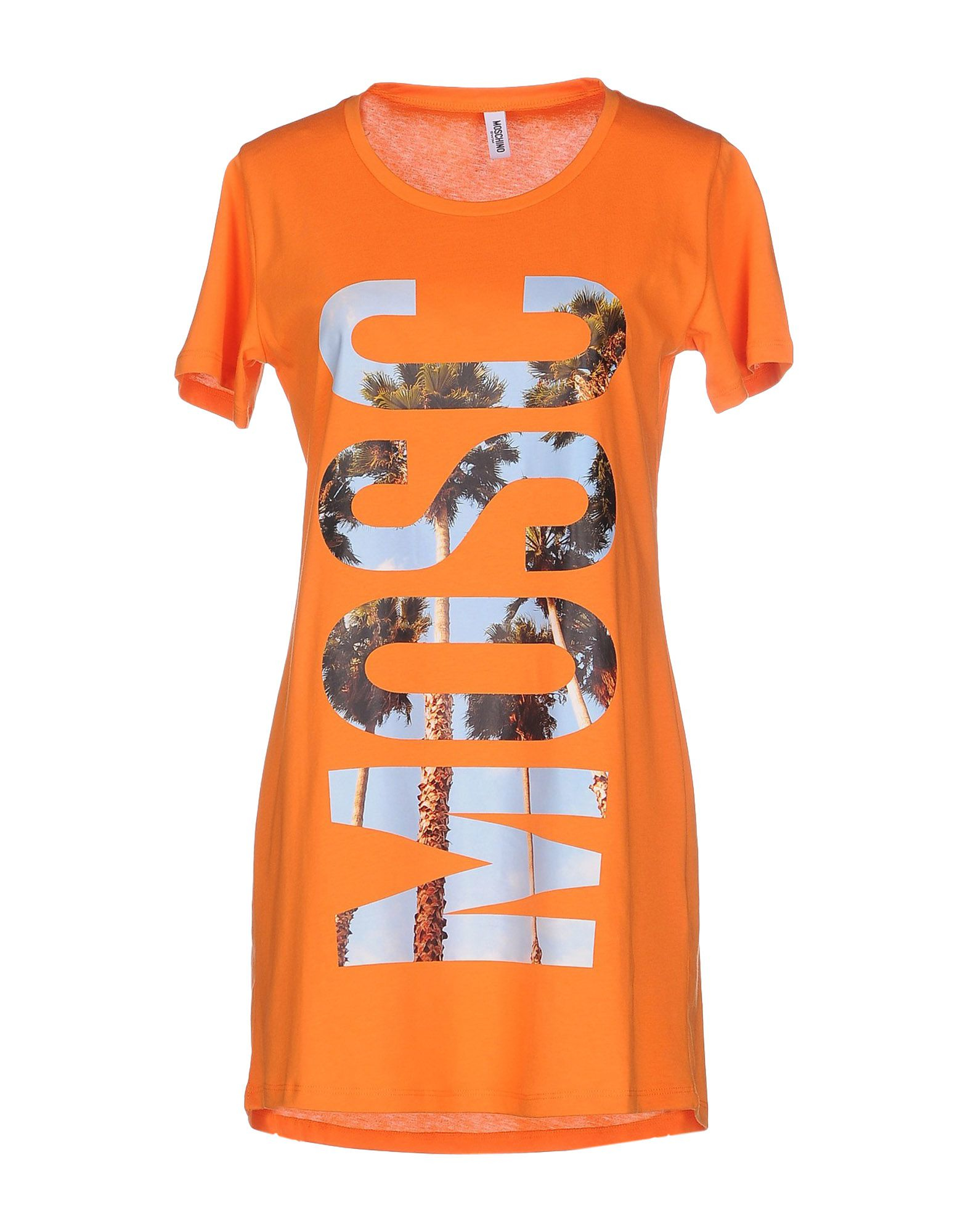 moschino t shirt in orange save 50 lyst. Black Bedroom Furniture Sets. Home Design Ideas
