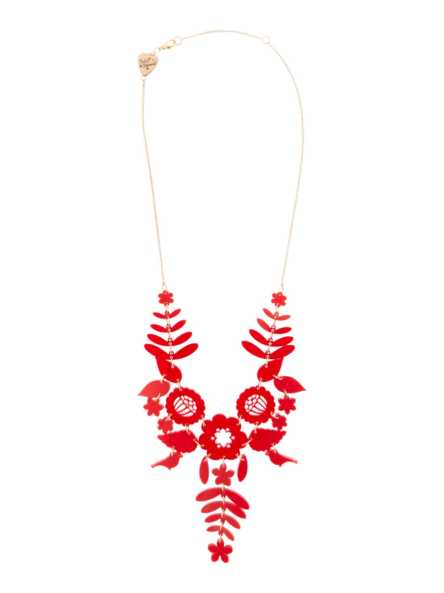Lyst tatty devine mexican embroidery necklace red in