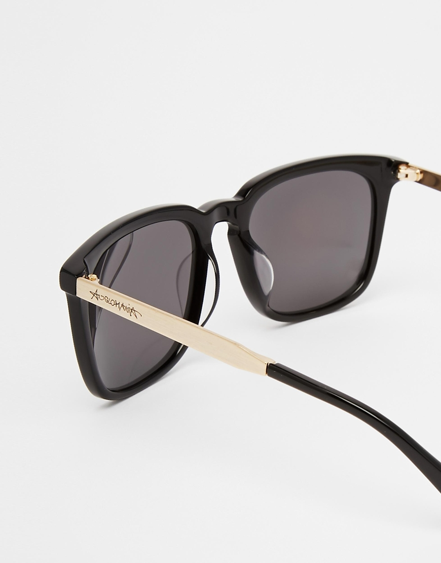 d85b883907af Lyst - Vivienne Westwood Anglomania Sunglasses With Metal Arms in Black