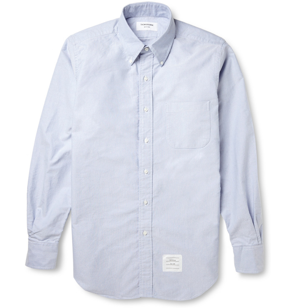 Lyst Thom Browne Button Down Collar Cotton Oxford Shirt