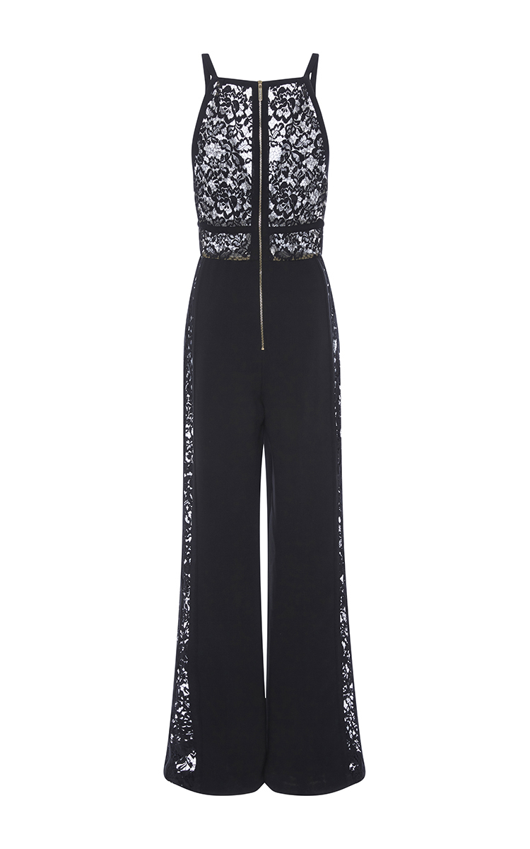 macrame jumpsuit - Black Elie Saab Clearance 2018 Sast Cheap Online Shop For WyW6oWkq