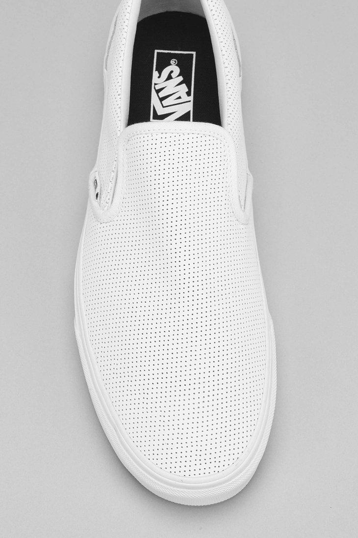 7c6e256155ca Lyst - Vans Leather Slip-on Men s Sneaker in White for Men