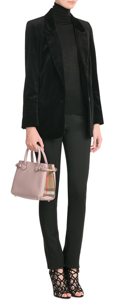 23e79bb7d8b9 Lyst - Burberry Small Banner Leather Tote - Rose in Pink