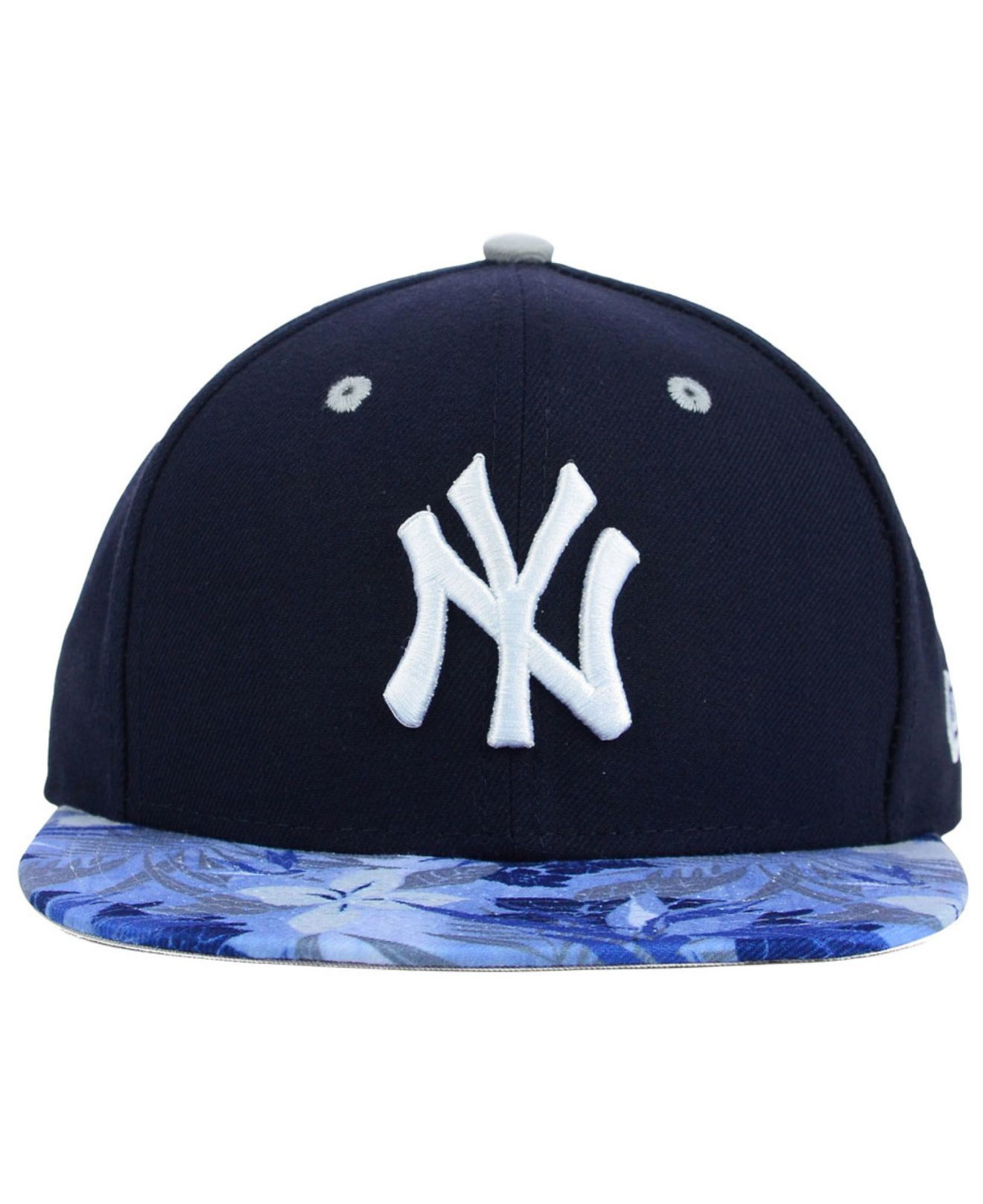 e2debbe30c612 ... coupon code for lyst ktz new york yankees floral viz 9fifty snapback cap  in blue 2b710 ...