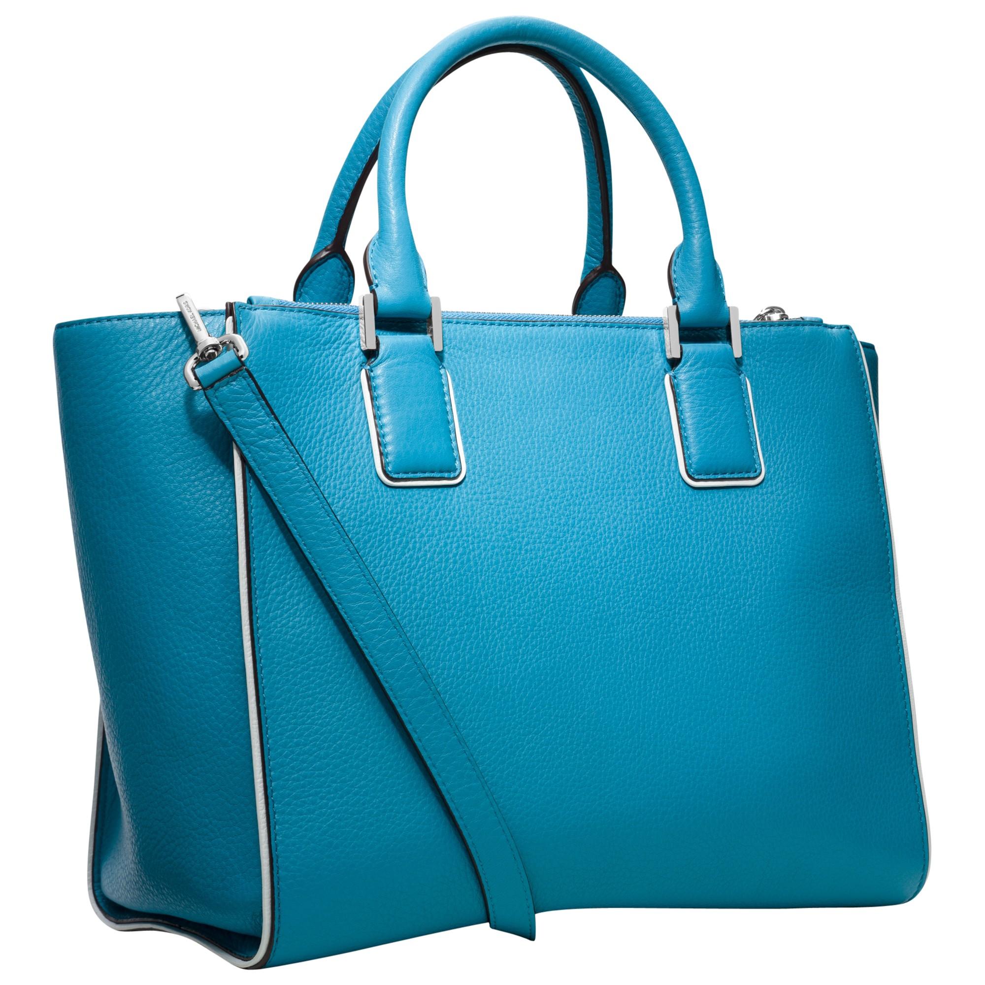 Michael Michael Kors Audrey Large Satchel Handbag in Blue (Summer Blue ...
