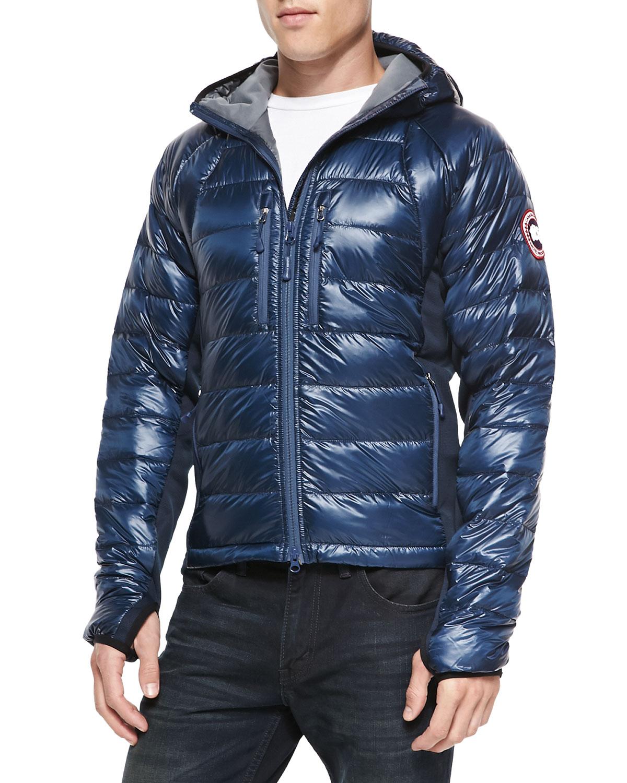 Canada Goose Hybridge Featherweight Puffer Jacket In Blue