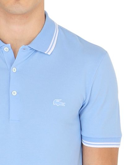Light-blue cotton piqué polo Lacoste Clearance Best Seller Sale Looking For Cheap Price Fake Outlet New 4BsgKOT