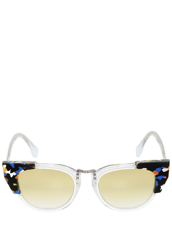 Fendi Embellished Cat Eye Sunglasses In Transparent Lyst