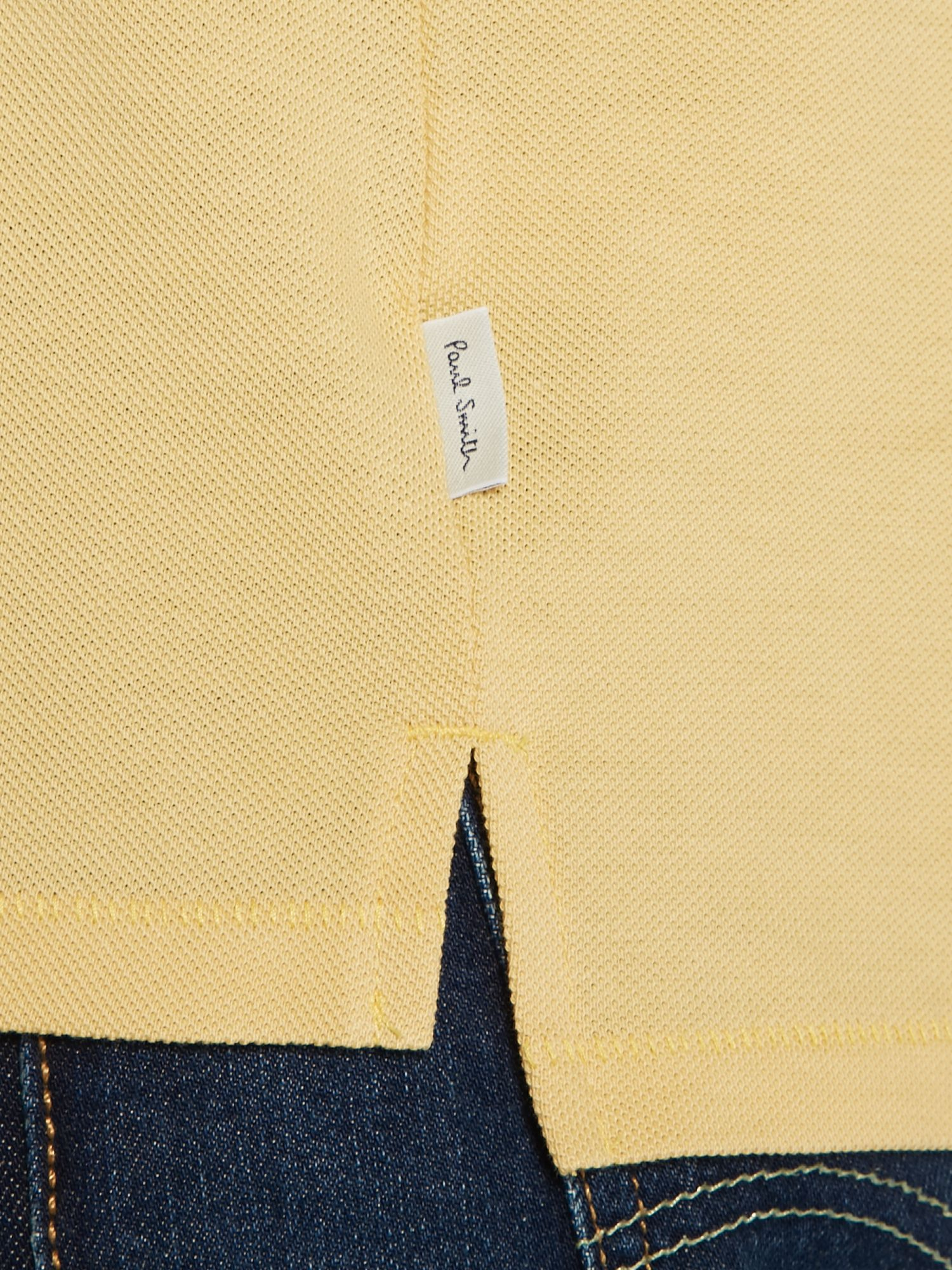 Lyst paul smith logo regular fit polo shirt in yellow for Lands end logo shirts