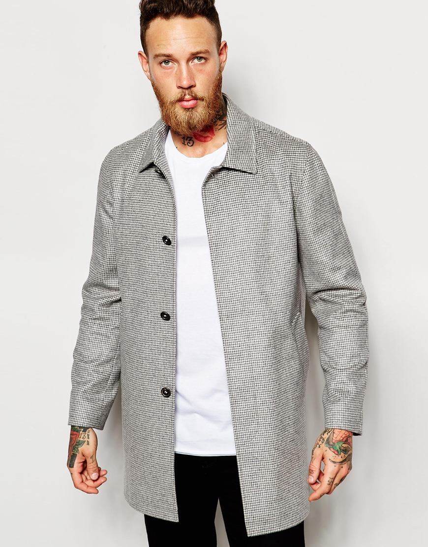 Noose and monkey Wool Dogtooth Mac in Gray for Men | Lyst