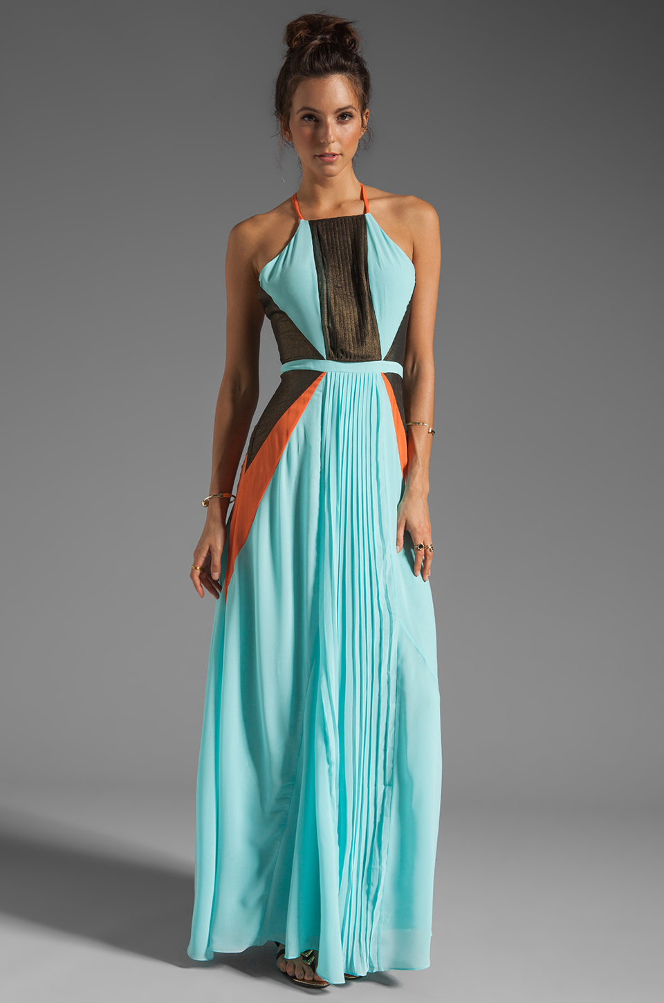 Suboo Pleated Maxi Dress in Mint in Green | Lyst