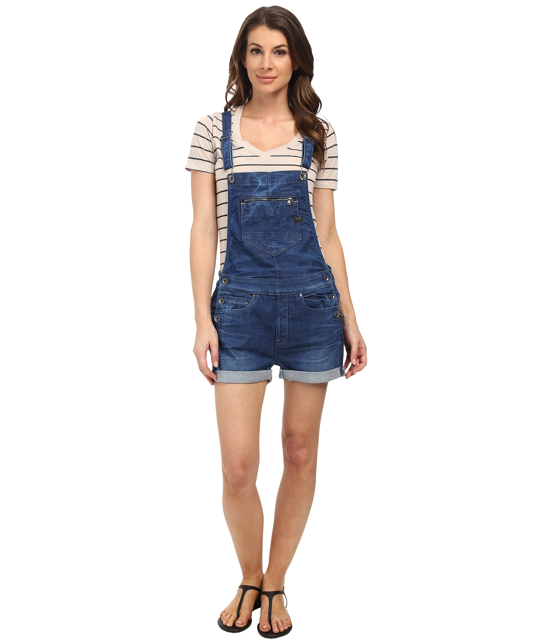 121a31201ee1c Lyst - G-Star Raw Midge Overall Short Salopette in Blue