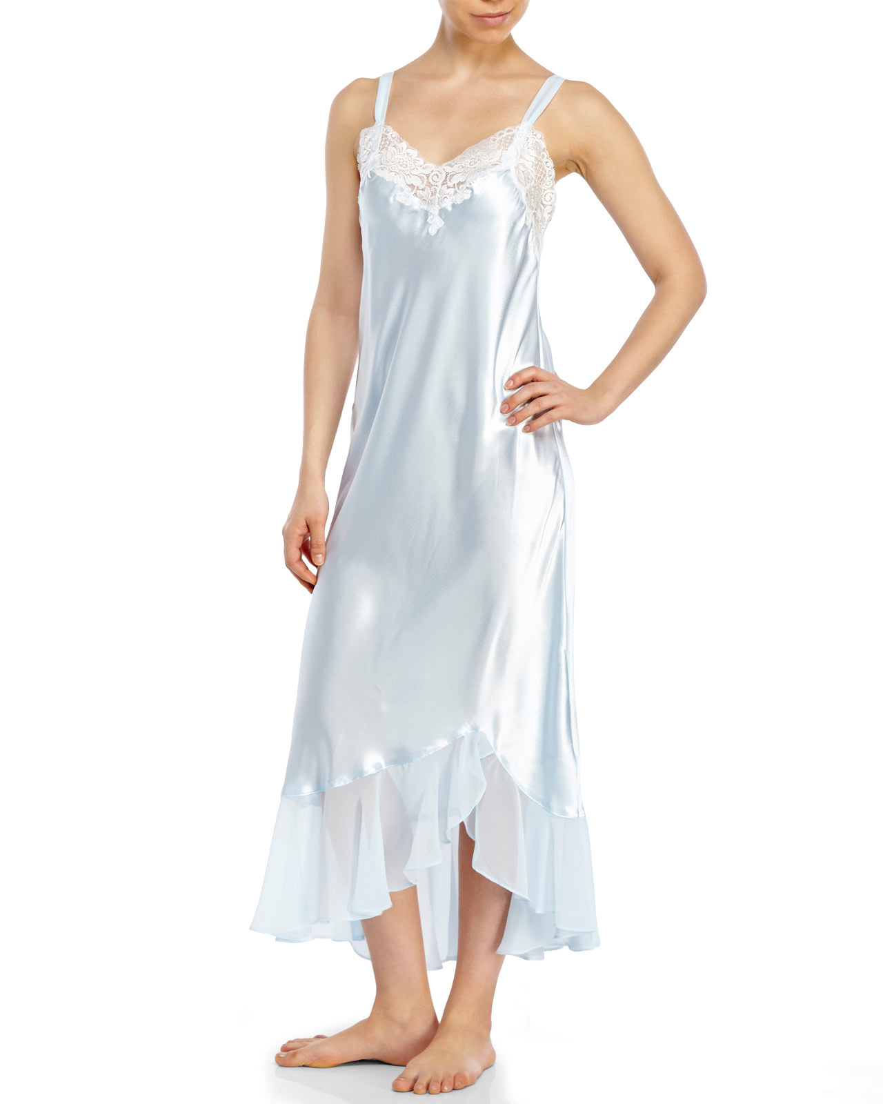 3eb14cb3f Oscar de la Renta Always A Bride Nightgown in Blue - Lyst