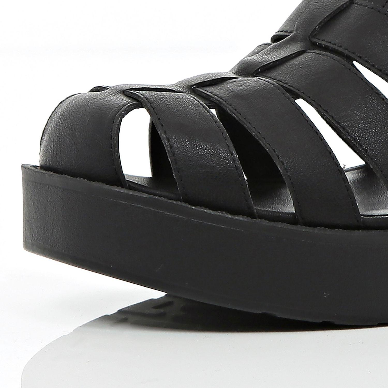 b7290a5d41e River Island Black Block Heel Gladiator Sandals in Black - Lyst