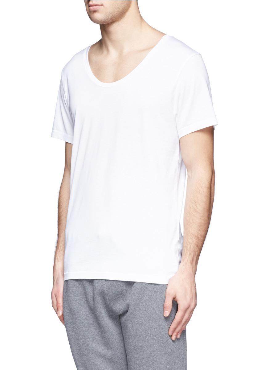 Acne Studios Scoop Neck Cotton T Shirt In White For Men Lyst